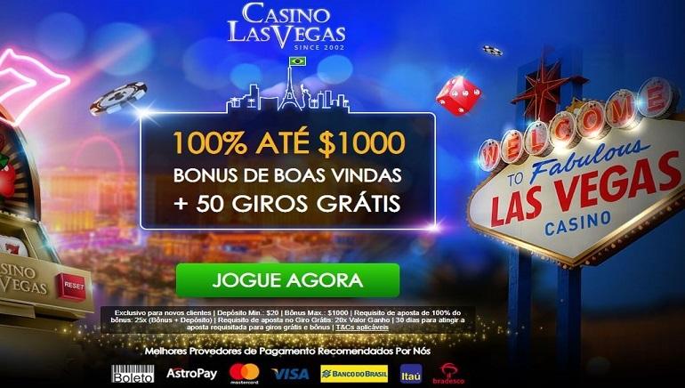 Casino Las Vegas Oferece Bônus de Boas-Vindas de 100% até $ 1.000