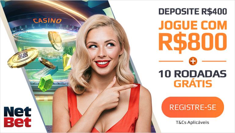 Receba até R$ 800 e 10 Jogadas Grátis no NetBet Casino