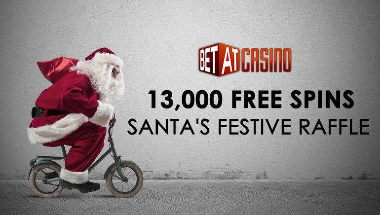 A sacola do Papai Noel está repleta com 13000 Giradas Grátis no Cassino BETAT