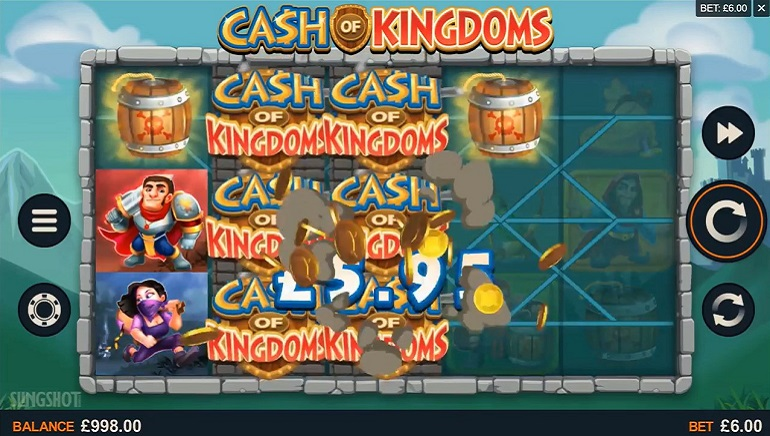 Mais Recente Lançamento da Microgaming, Cash of Kingdoms, Chega ao Mercado