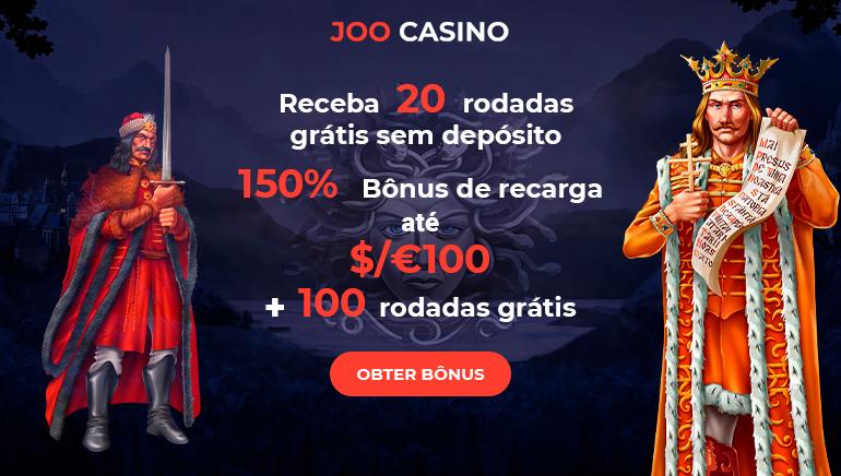 Comece 2020 Com um Estouro com 150% de Bônus até  $ 100 & 100 Giradas Grátis no Joo Casino
