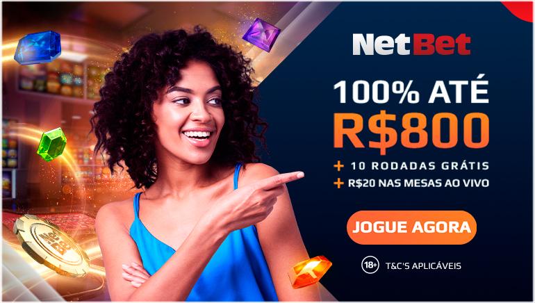 100% ate R$800 + 10 rodadas gratis + r$20 nas mesas ao vivo